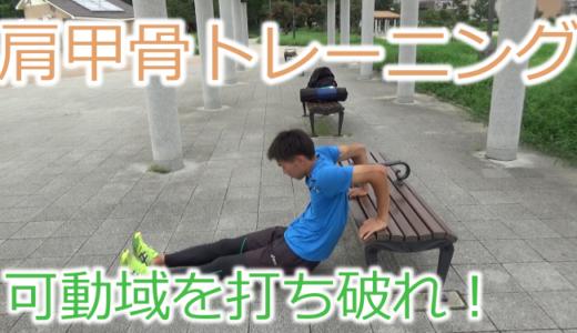 陸上選手の腕振りを肩甲骨を背骨に寄せるイメージで解説