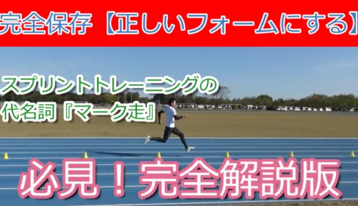 結果にびっくり!100m10秒台を出した冬に1番取り組んだマーク走メニューを解説